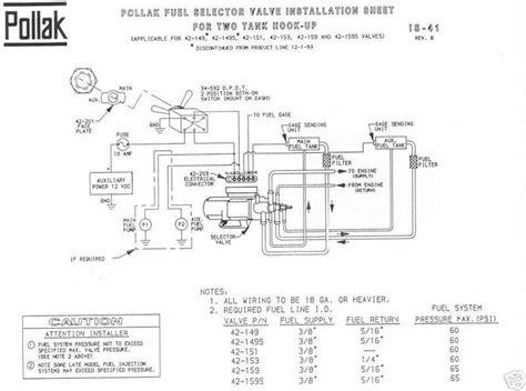 Ford Fuel Tank Selector Valve Wiring Diagram ford fuel tank selector switch wiring diagram repair manual