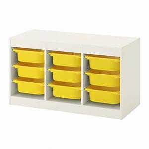 Spielzeug Aufbewahrung Ikea : trofast aufbewahrung mit boxen wei gelb ikea ~ Michelbontemps.com Haus und Dekorationen