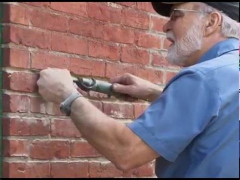 Repointing With Pneumatic Mortar Removal Set Youtube