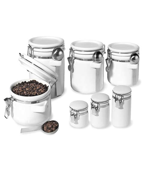 kitchen storage tins oggi food storage containers 7 set ceramic 3189