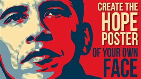 photoshop create personalize obamas hope poster design