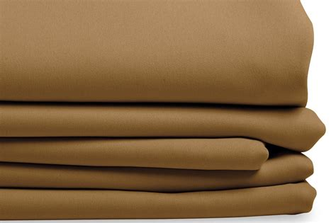 Beige Blackout Curtain Solid Color Fawn Mc44
