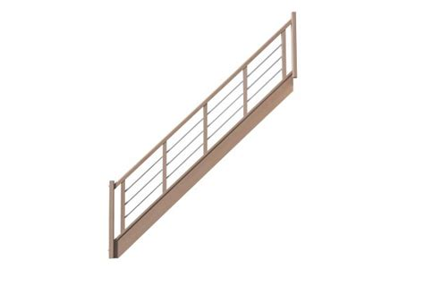escalier droit avec contremarches balustres aluminium horizontales escaliers d2bois fr