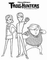 Coloring Trollhunters Dreamworks Printable Jim Characters Claire sketch template