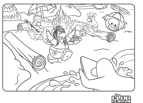 penguins club penguin  released   coloring page