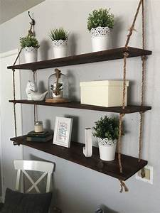 best 25 hanging shelves ideas on pinterest hanging With the advantages and ideas of hanging wall shelves