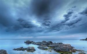 Cloud, Stone, Sea, Mac, Wallpaper, Download