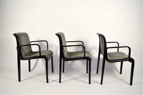 set of six bill stephens for knoll dining chairs for sale