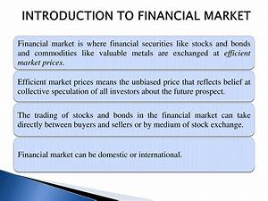 Types Of Financial Markets - PowerPoint Slides