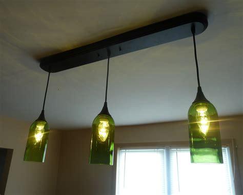 green kitchen pendant lights upcycled green wine bottle 3 pendant light billiards table 4021