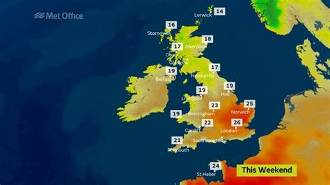 Weather Forecast Sizzling Sunny Spells As Highs Of 25c