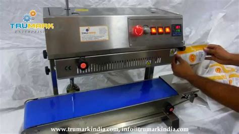 continuous band sealing machine band sealer vertical model youtube