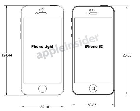 size of iphone 5s design drawings reveal makers expectations for