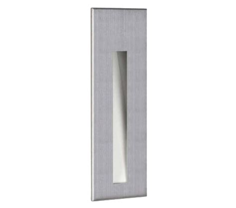 astro borgo 43 led recessed wall light brushed stainless