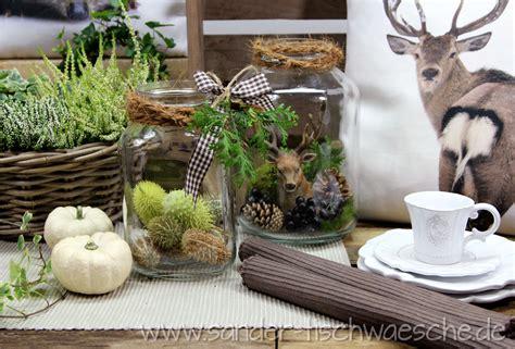 Herbstdeko Für Gartentisch by Herbst Im Glas Weckgl 228 Ser Herbstlich Dekoriert Kissen
