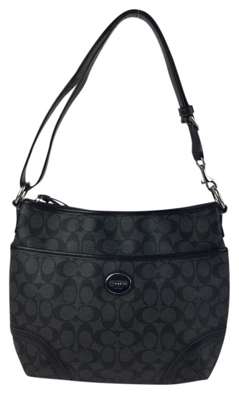 coach monogram black grey signature tote bag  sale