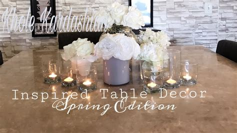 khole kardashian inspired table decor  white flower