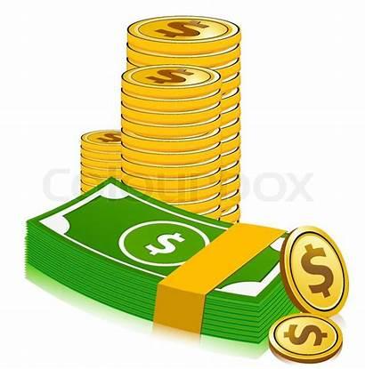 Clipart Dollar Money Cartoon Coins Pile Stack