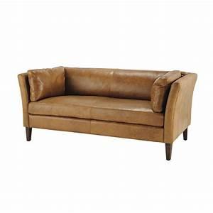 3 Sitzer Leder : vintage sofa 3 sitzer aus leder camelfarben prescott maisons du monde ~ Indierocktalk.com Haus und Dekorationen
