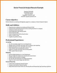 Job Resume Financial Analyst Resume Sample Entry Level
