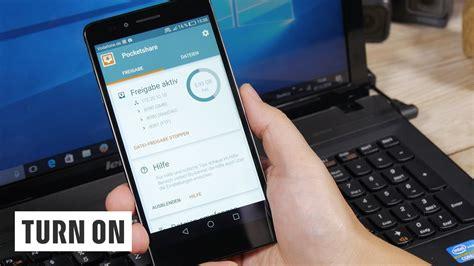 kabelloser datenaustausch zwischen android smartphone pc