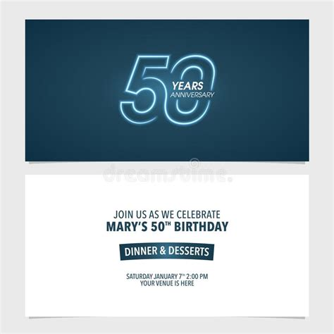 50th Birthday Party Invitation Stock Illustration
