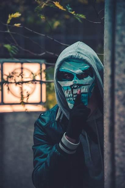 Skeleton Mask Wearing Person Halloween Bender Unsplash