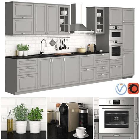 Ikea Küchenschränke Metod by 3d Model Ikea Metod Bodbyn Gray Cgtrader