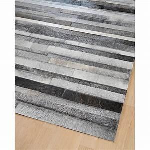 Tapis Tissé à Plat Pas Cher : tapis en patchwork de cuir gris jacob home spirit 170x230 ~ Teatrodelosmanantiales.com Idées de Décoration