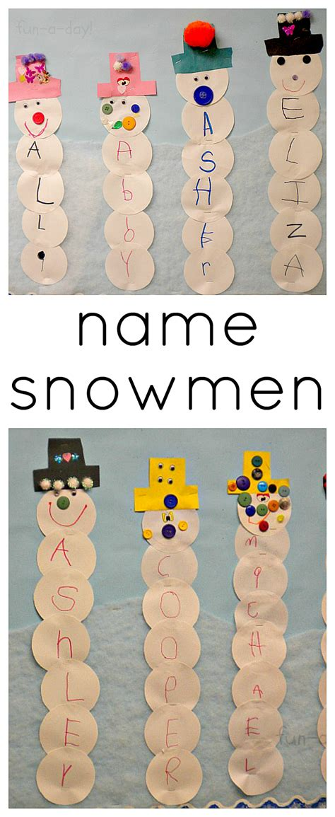snowman activities for preschool name snowmen winter activity for preschoolers a day 242