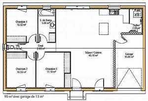 chambre new plan maison plain pied 3 chambres gratuit full With plan maison plain pied 3 chambres terrasse