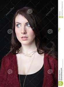 Woman with Brown Hair and Blue Eyes