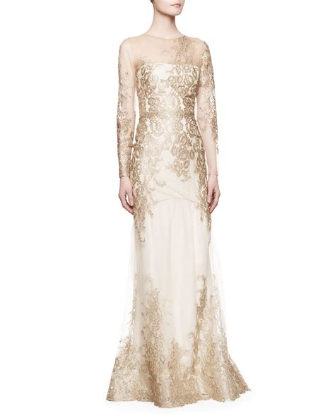 lyst notte by marchesa longsleeve lace illusion mermaid