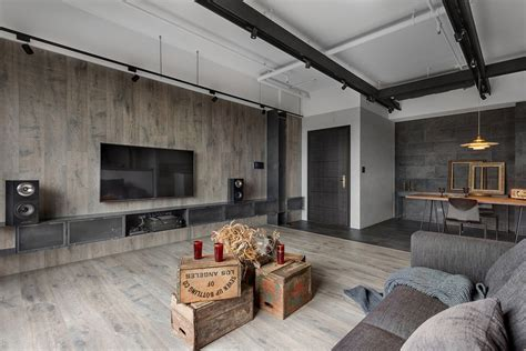 industrial style home  taiwan enhanced  textural diversity