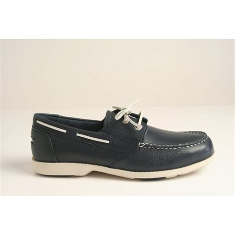 Rockport Boat Shoes Australia by Rockport Rockport 2 Eye Boat Shoe In Grained Navy