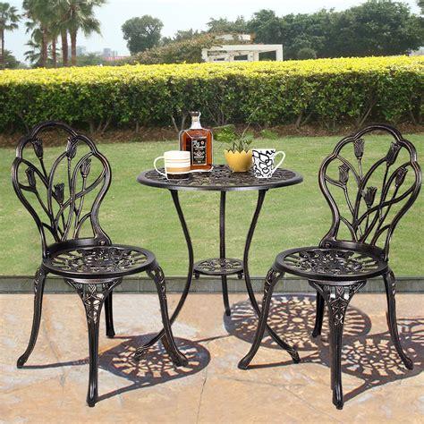Bistro Patio Furniture by Equipment Outdoor Patio Bistro Set Tulip Design In