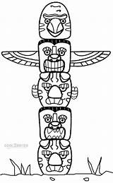 Totem Pole Coloring Pages Poles Native Printable American Animal Cool2bkids Craft Crafts Template Indian Adults Totems Children Alaska Drawing Templates sketch template