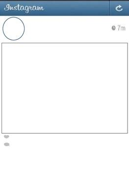 blank instagram template instagram templates pdf packet includes comments page by kraake