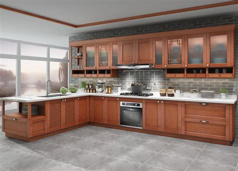 assembled  wood kitchen cabinets suppliers