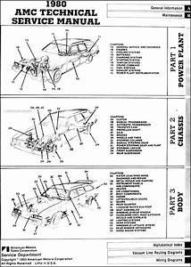 1980 Amc Repair Shop Manual Original Pacer Spirit Amx Concord Eagle