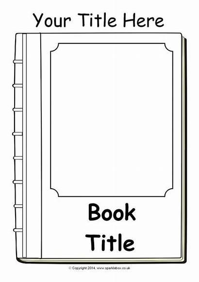 Template Templates Editable Sparklebox Blank Covers Books