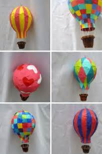 Paper Mache Hot Air Balloon Craft