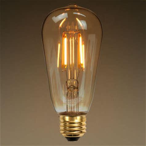 edison style antique led filament bulb 60w equal glass