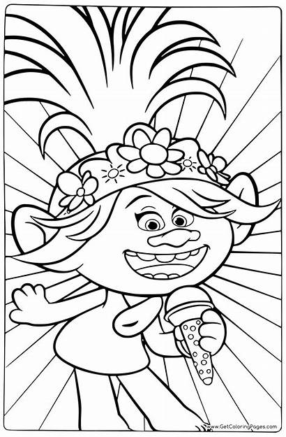 Trolls Coloring Tour Colouring Pages