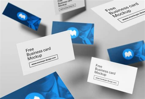 Floating Business Cards Mockup Business Hub Images Card Mockup Rounded Corners Free Kinkos Size Design Cheap Motivation In Hindi Thank You Affinity Mm