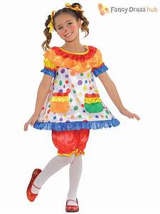 Childs Clown Costume Boys Circus Jumpsuit Girls Fancy ...