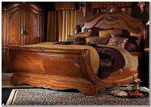 Wooden, Bed, -, Teak, Wood