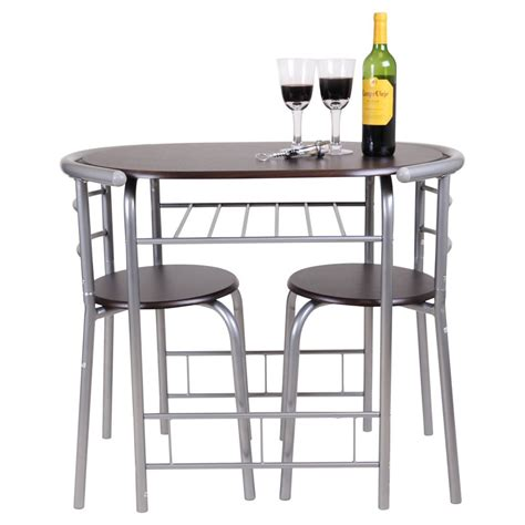 pub table and two chairs chicago 3 piece dining table and 2 chair set breakfast