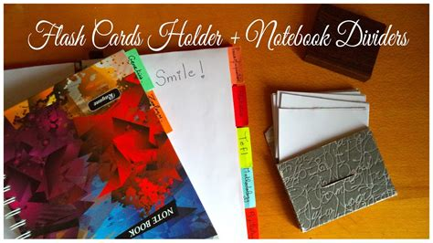 Diy  Flash Cards Holder + Notebook Dividers  My Crafting World Youtube