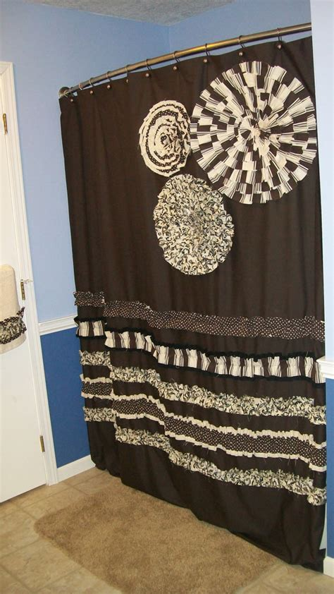 shower curtain custom made designer fabric by countryruffles